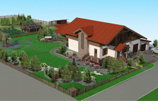 Проект «Посёлок Шамони», 2015 г, реализация 2017г.